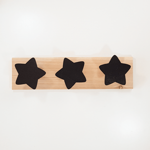 Perchero madera estrellas negro - Made in Joyland