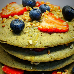 Blueberry - Recipe: Matcha Pancakes