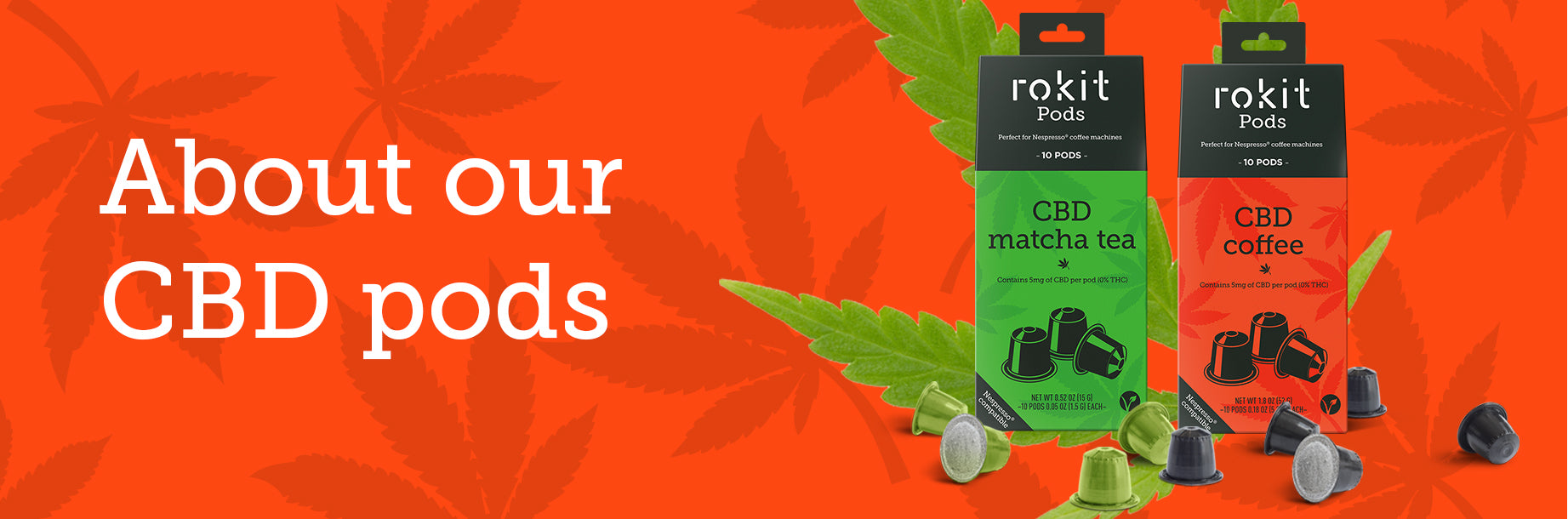 About our CBD pods - CBD Rokit Pods information