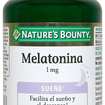 Suplemento en medicamentos, remedios y suplementos dietéticos NATURE'S BOUNTY MELATONINA 1mg 100comp     NATURE´S BOUNTY