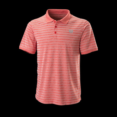 Polo Wilson M STRIPE POLO RD/Wh L