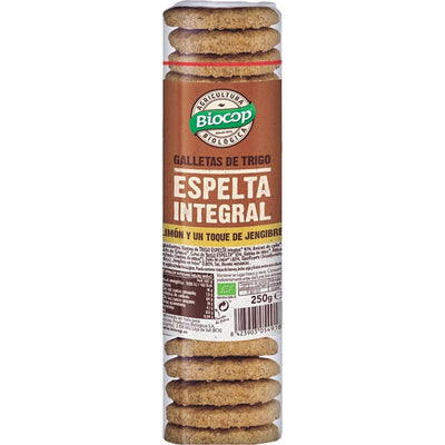 Beauty BIOCOP GALLETA ESPELTA INTEGRAL JENIBRE-LIMÓN 250g