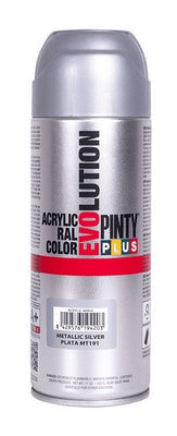 DIY PINTY PLUS SPRAY METALIZADO GRIS 400ML