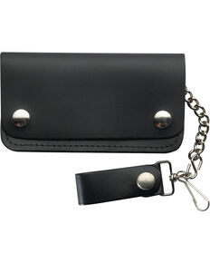 Genuine Mens Black Leather Wallet