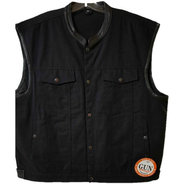 Mens Classic Denim Black Vest