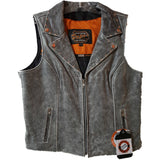 Ladies Studded Riding Vest Grey