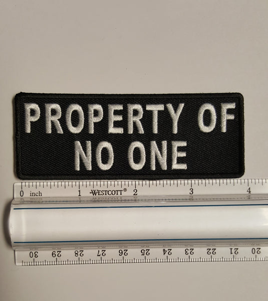 Property of No One Patch