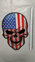 American Flag Skull Large Patch