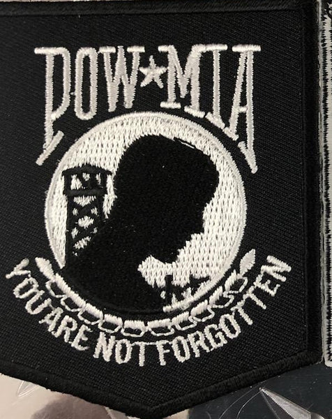 POW Patch Black and White
