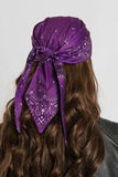 Purple Paisley Head Wrap