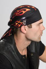 Biker Flames Head Wrap