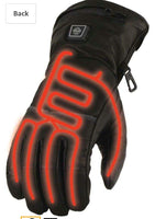 Mens Heated Leather Gauntlet Glove