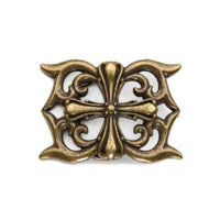 FLEUR DE-LIS CROSS BELT BUCKLE