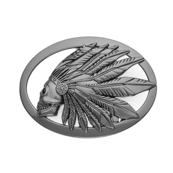 CROWN OF FEATHERS BELT BUCKLE