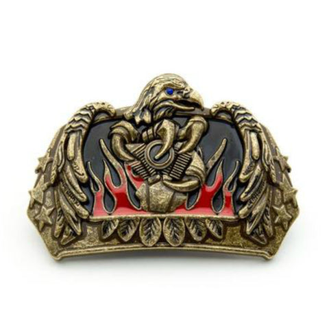 FLAMES EAGLE BELT BUCKLE