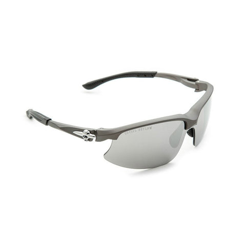 Sunglasses-Performance Biker w/Interchangeable Lens-Gray