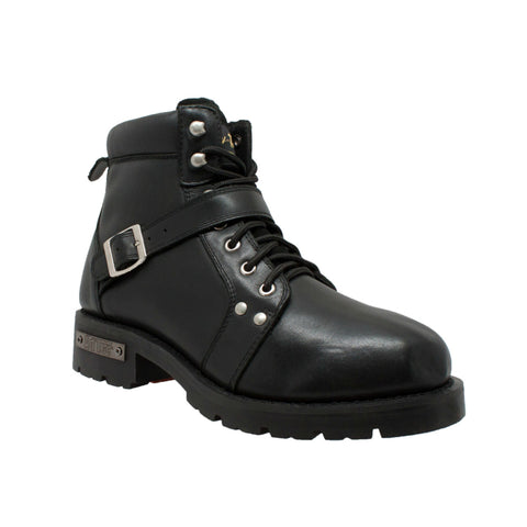 Men's Ride Tec YKK Zipper Biker Boot-Black