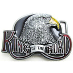 Eagle head with King of the Road at bottom BELT BUCKLE.