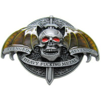 Avenged heavy F*****G metal sevenfold belt buckle