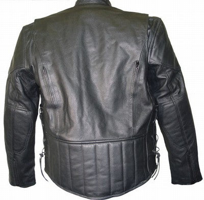 8864674fd6f ... Xelement B7201 Men s Top Grade Leather Motorcycle Jacket with Zip-Out  Lining ...