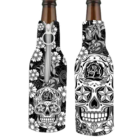 Sugar Skull Bottle Wrap