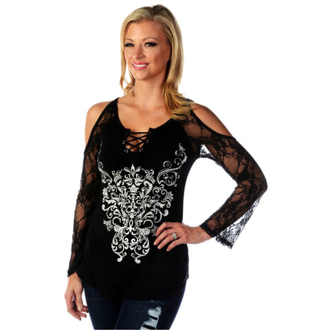 Long Sleeve Bohemian Lace Top