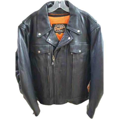 Mens Dual Pocket Motorcycle Jacket