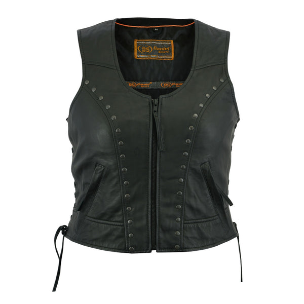 Women's Studded Zip Lightweight Vest