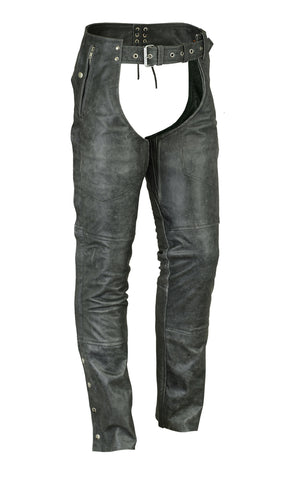 Unisex Double Deep Pocket Thermal Lined Chaps (Gray)
