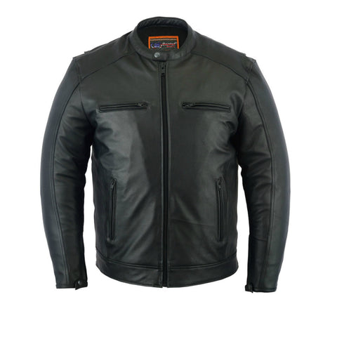 Mens Premium Leather Cruiser Jacket