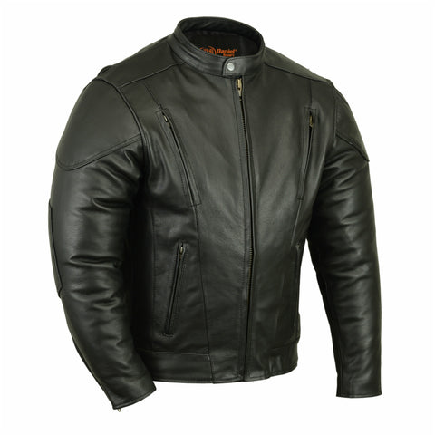 Men's Vented M/C Jacket w/ Plain Sides