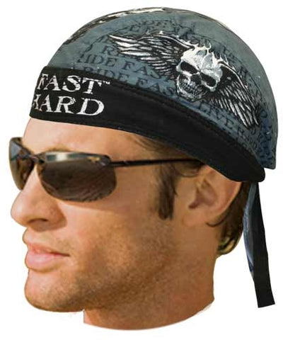Ride Fast Live Hard Head Wrap