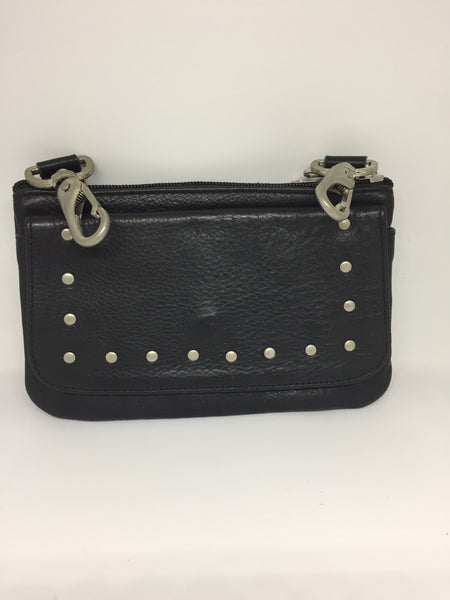 Ladies Black Clip on Purse