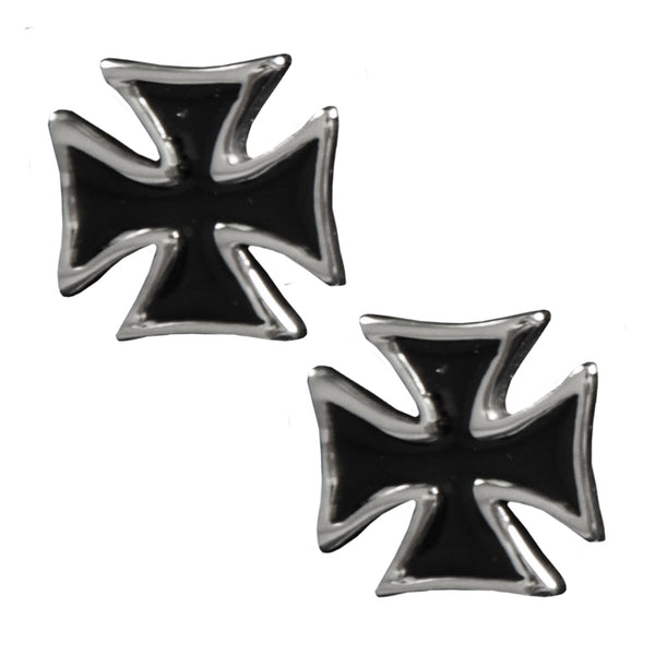 Iron Cross Post Earrings