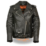 Women's Full Length Traditional Leather Police Jacket