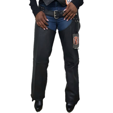Ladies Studded Hip Hugger Chaps