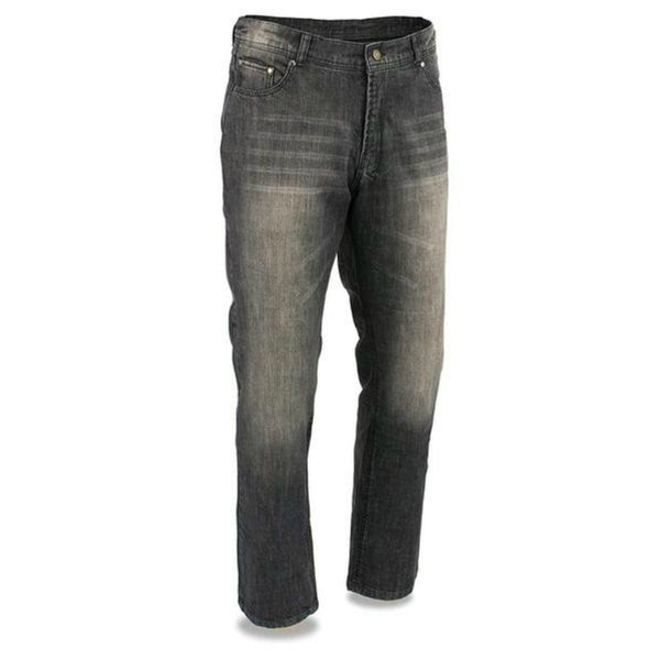 Mens Black Denim Jeans with Aramid Reinforcement