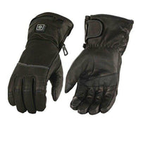 Womens Heated Leather Gauntlet Glove