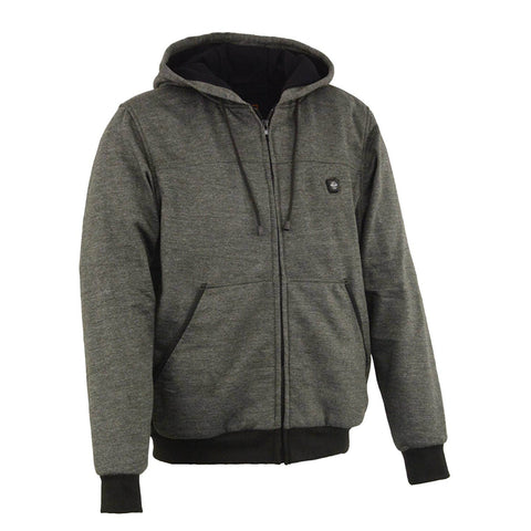 Men's Gray Front Zip Heated Hoodie