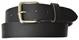 Black 100% Cowhide Leather Casual Belt