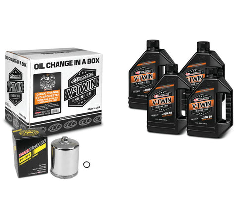 Maxima Evolution - Sportster Mineral 20W50 Quick Change Kit