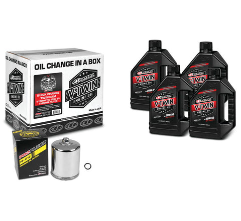 Maxima Twin Cam Synthetic 20W50 Quick Change Kit CHR