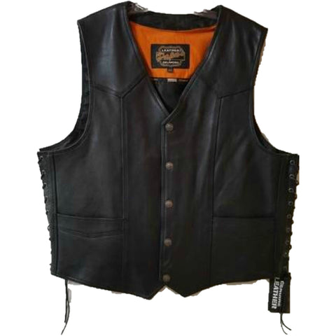 Mens Naked Side Lace Vest