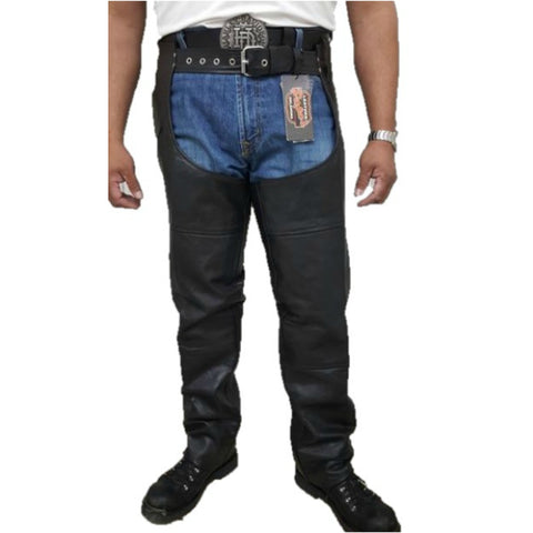 Mens naked leather black chaps