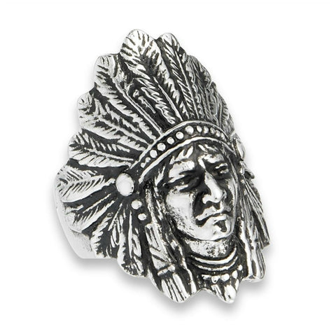 Native Indian Chief Ring