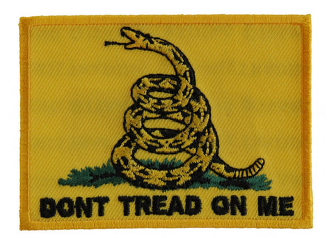 Gadsden Flag Don't Tread On Me Patch -Yellow  3x2 inch