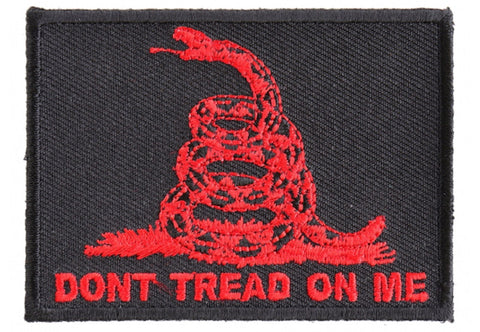 Don't Tread On Me Gadsden Flag Red Over Black Patch