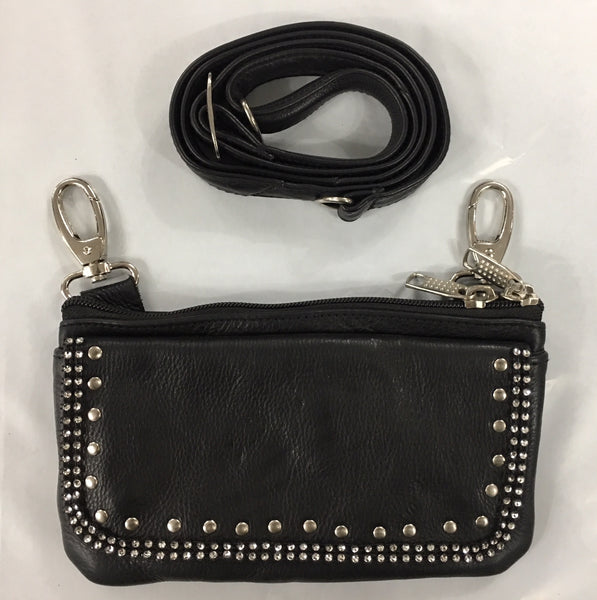 Studded Bling Clip on Purse