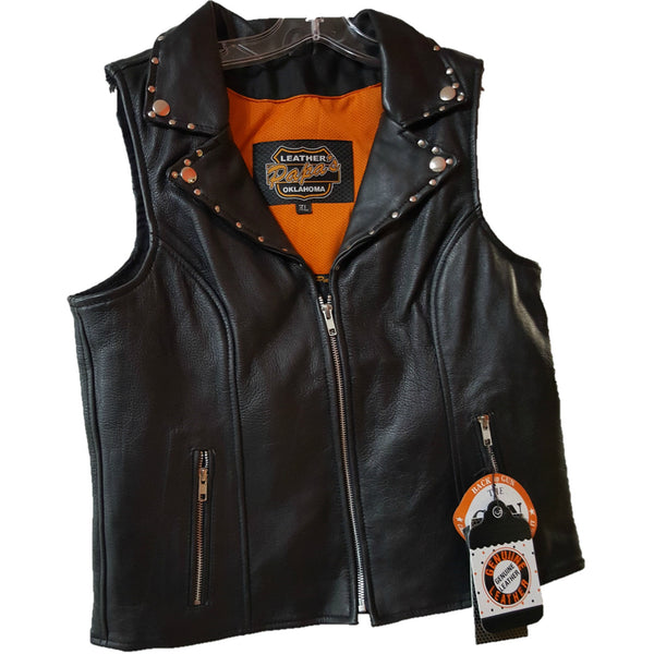 Ladies Studded Riding Vest