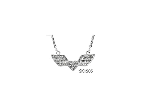 Bling Wing & Heart Necklace